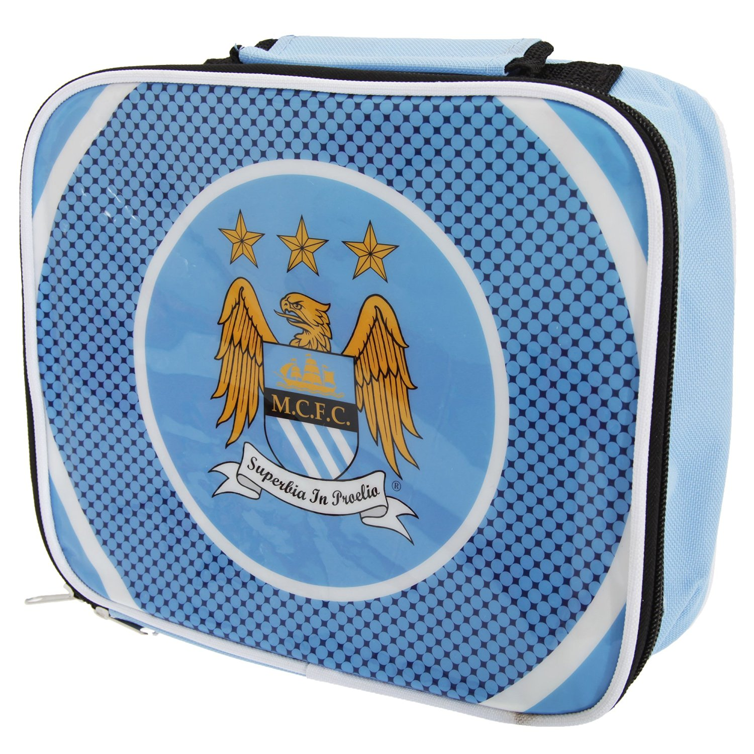a38a34bbe9 Manchester City FC Childrens Kids Official Football Bullseye Lunch Bag (One  Size) (