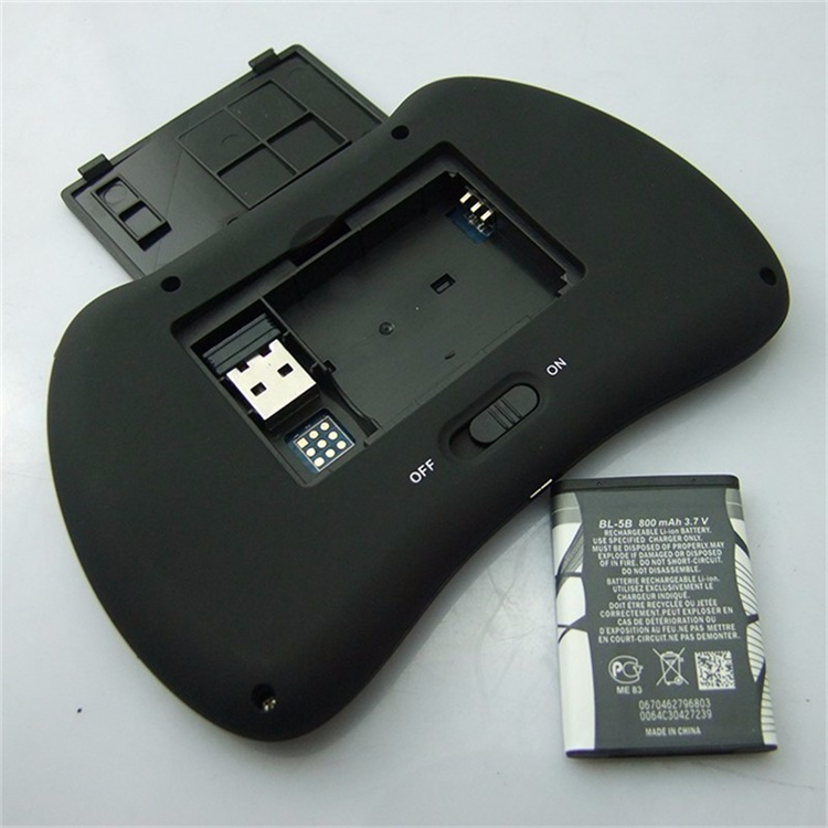 Shenzhen IMO Fabriek prijs groothandel H9 backlit air mouse 2.4G Draadloze i8 mini toetsenbord android smart tv afstandsbediening
