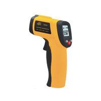 Digital Laser Temperature Infrared Sensor Handheld IR Thermometer Gun with Adjustable Emissivity