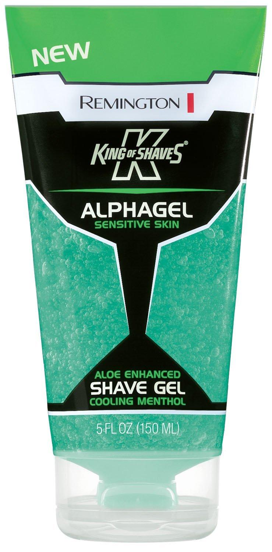 Remington King of Shaves Alphagel Cooling Menthol Shave Gel 5 oz. (Pack of 2)