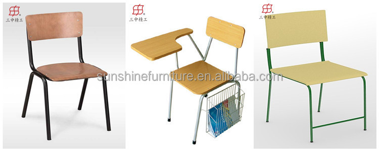 china factory metal frame wooden school chair with writing board view school chair with writing board sunshine product details from shouguang