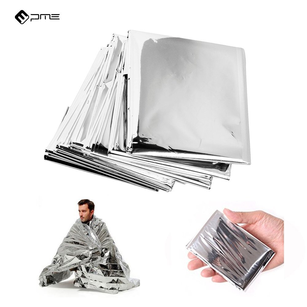 Zenwells Emergency Mylar Thermal Blanket Camping 5 Pack or 10 Packs Travel and First Aid Rescue Whistle Outdoor Solar Blankets Designed for NASA Ideal SOS Equipment for Your Car