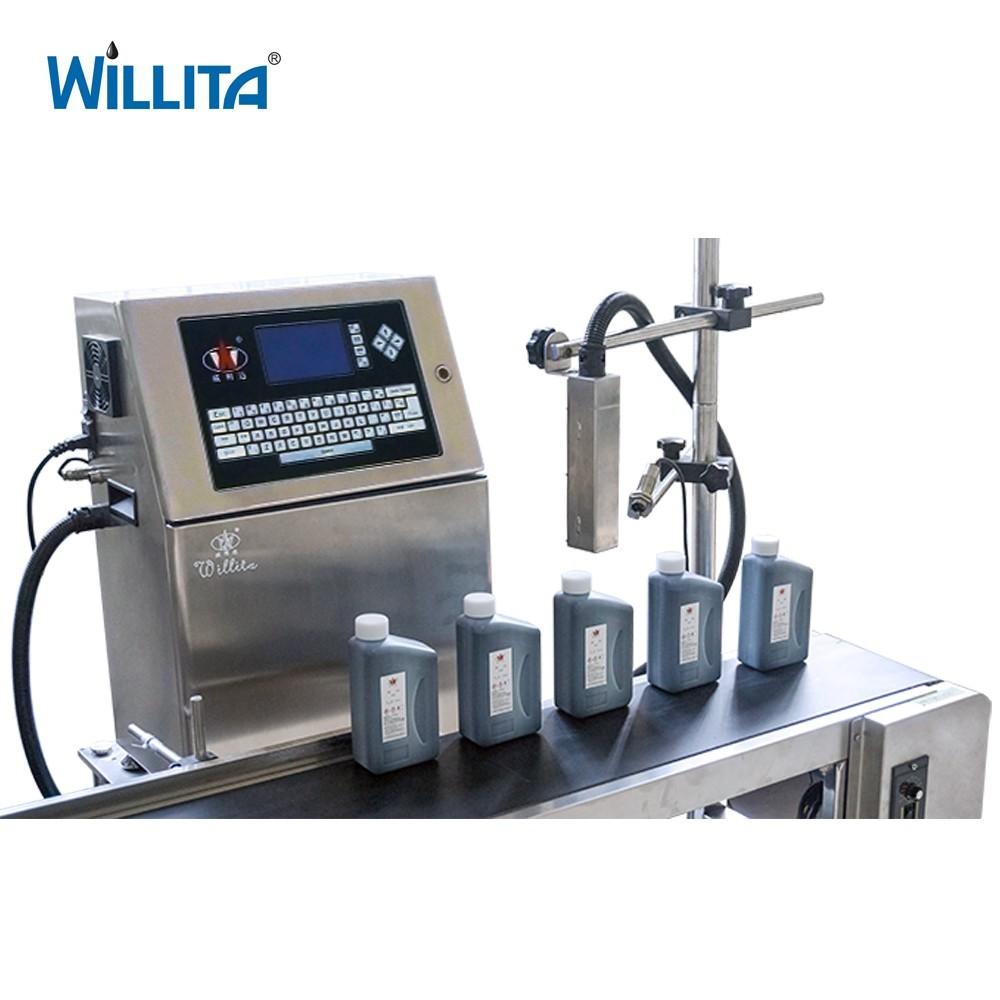 Automatische Industrie CIJ Inkjet Drucker QR Code Charge Anzahl Druck Maschine
