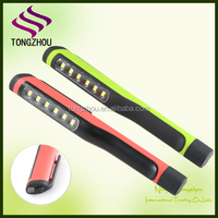6+1 led pocket led pen torchlight with Magnetic clip