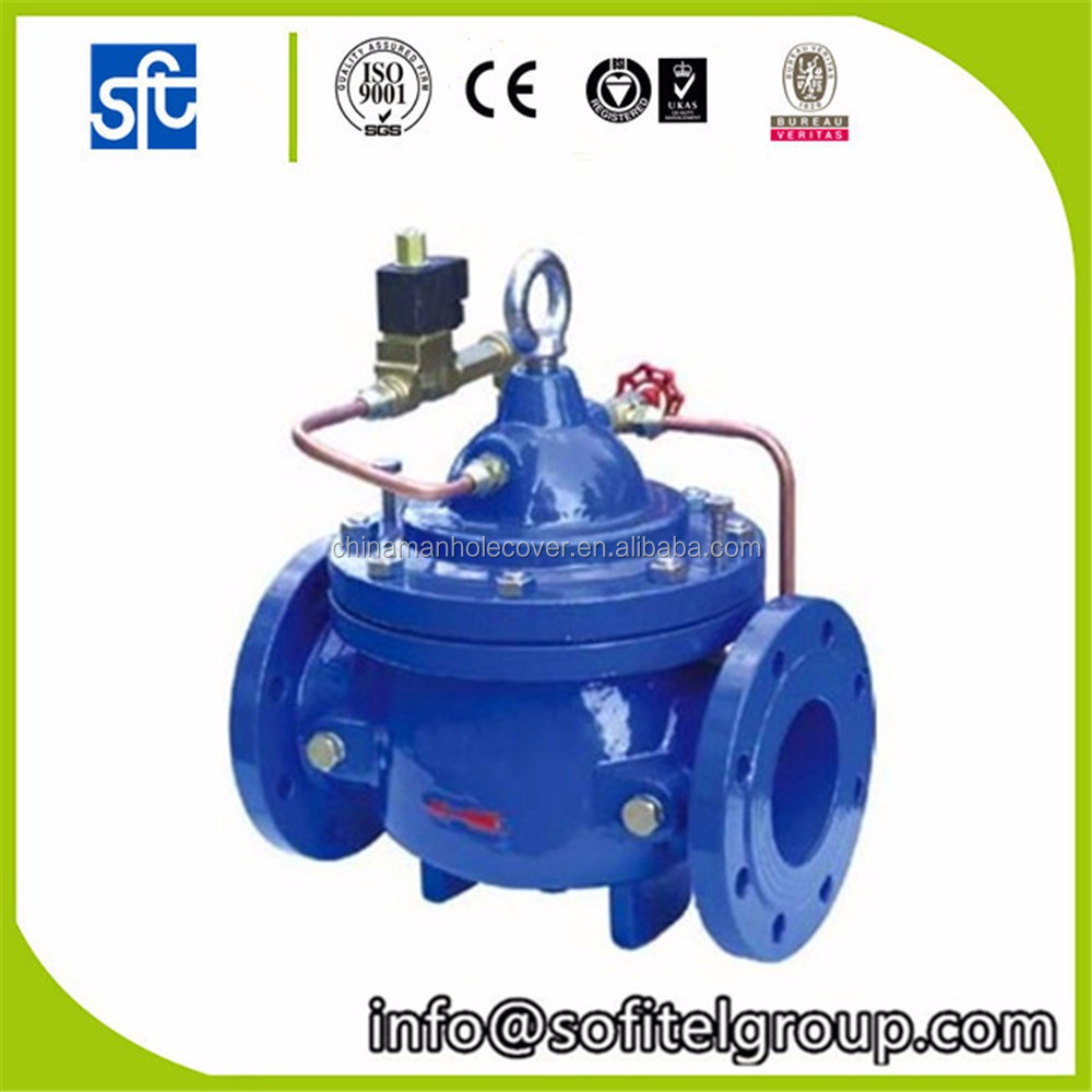 cast iron Water Pressure Holding & Relief Valve manual operation