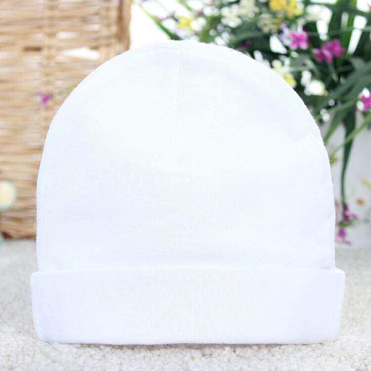 MZ-MS-005 healthy hospital use solid color baby hat plain white kintted  cotton 03e75e5df78