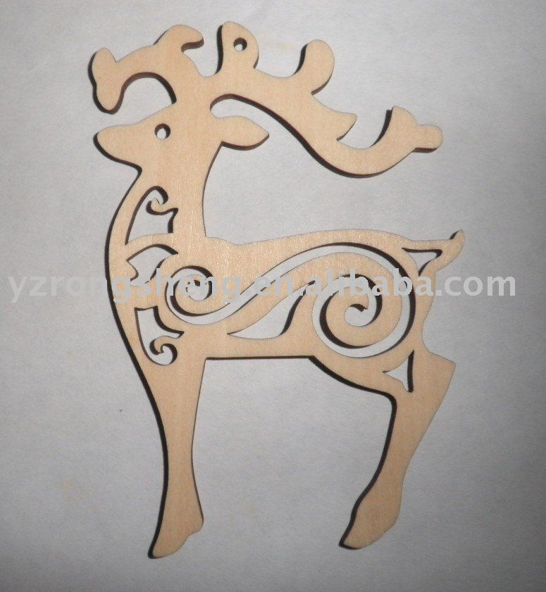 2015 nwe hot sale christmas wooden carving reindeer decoration