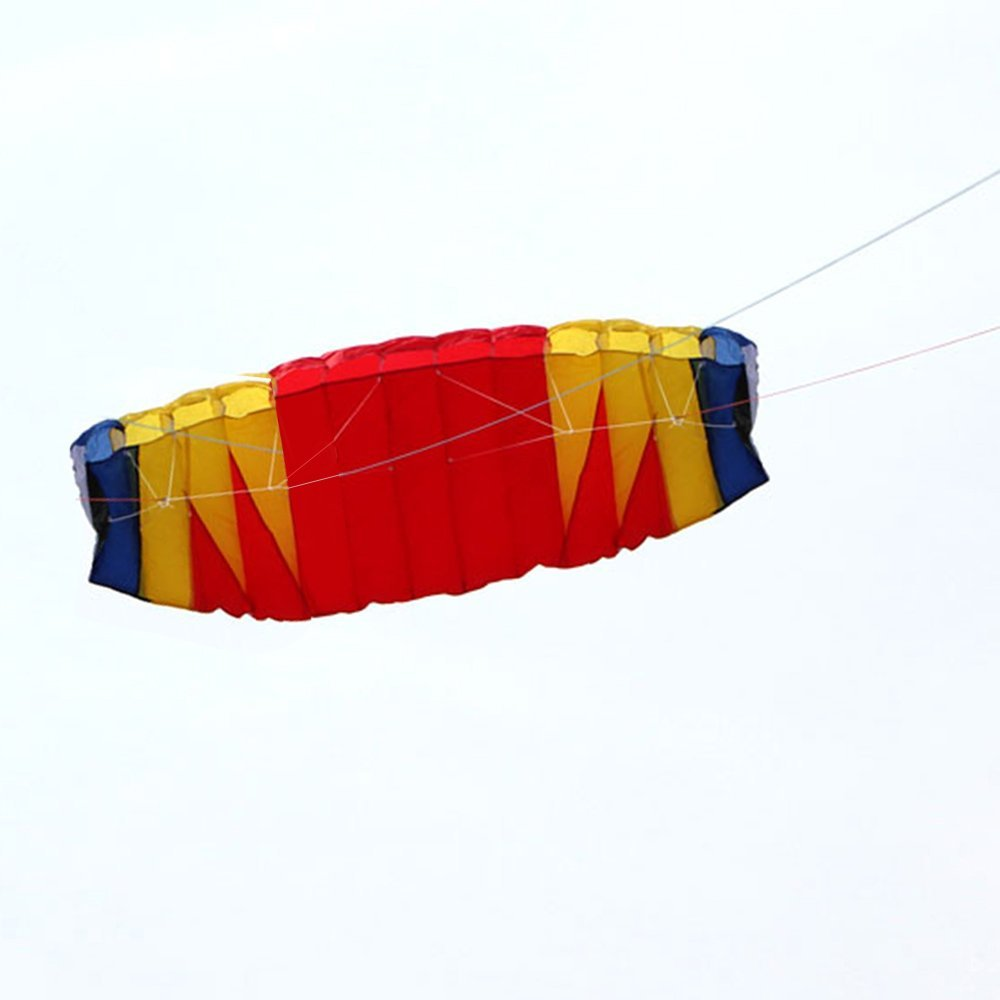 "Lixada 79"" x 27.5"" Large Dual Line Stunt Parafoil Kite Outdoor Sports Fun Toy with 30M Line"