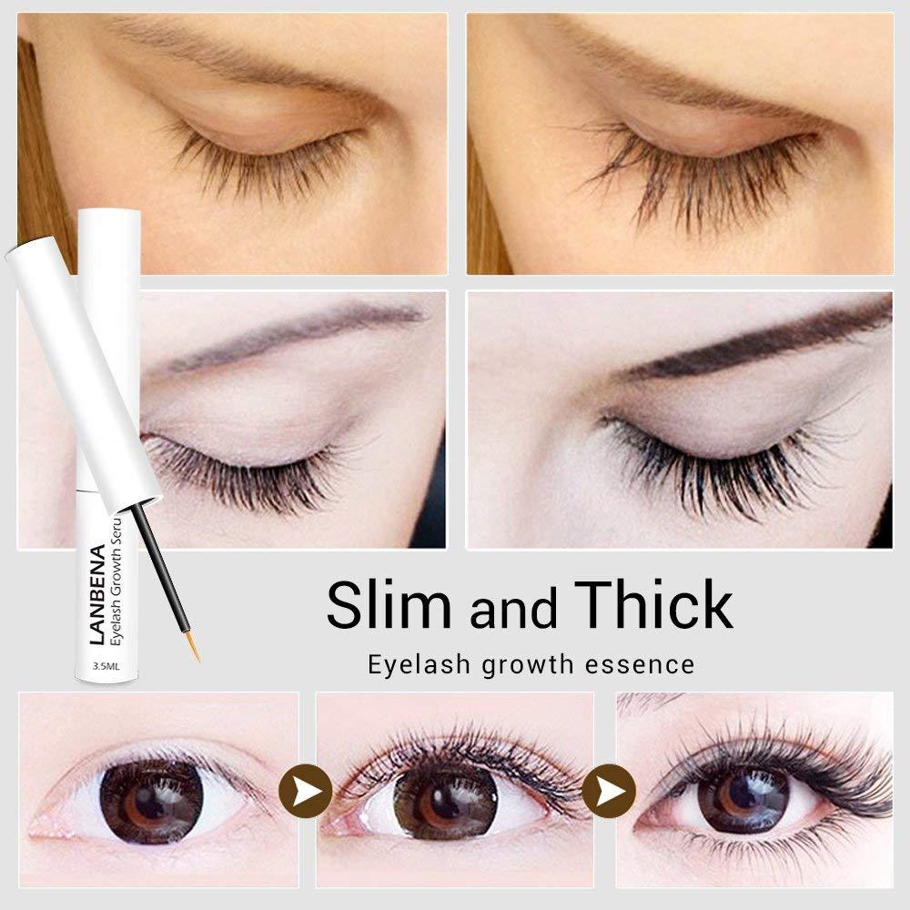 d34bcb600f2 Get Quotations · LANBENA Eyelash Growth Serum Lash Boost - Natural  Ingredients Strengthen & Enhance Your Brows & Lashes
