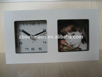 2014 New Mirror Photo Clock With Quartzkids Desk Clockphoto Frame