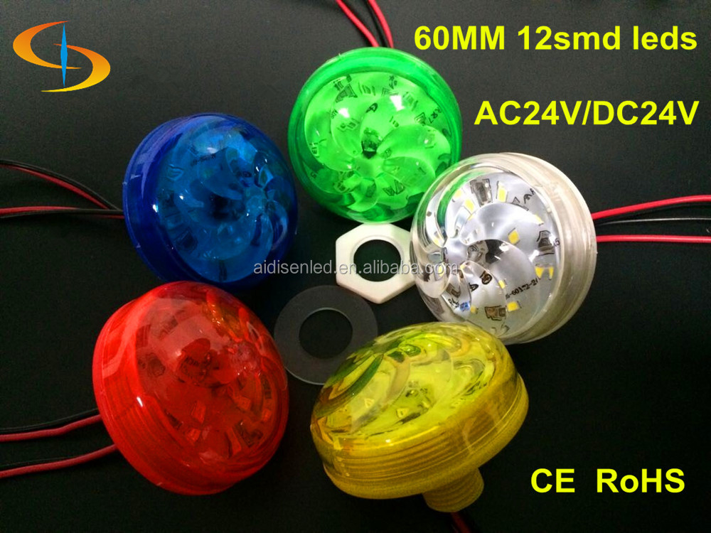 24v red/green/blue/yellow/white cover led single color pixel light 60mm 12smd inside led source