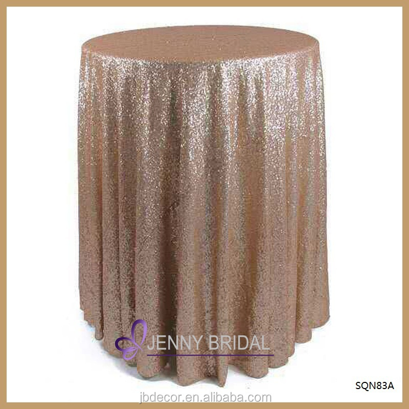 SQN83A high table decor decoration gold sequin trade show table covers bar table covers