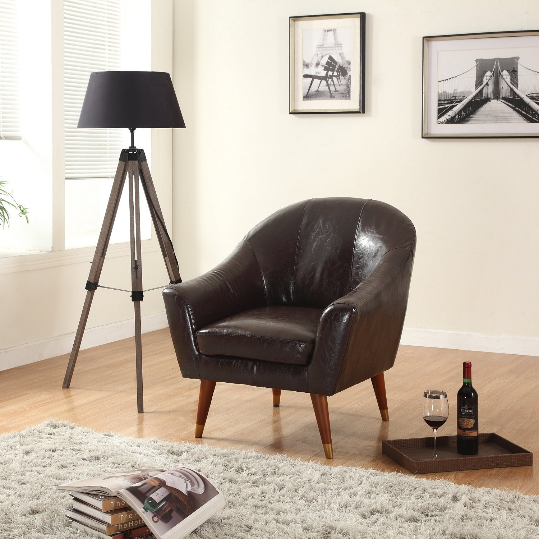 Buy Divano Roma Furniture Mid Century Modern Chair Bonded