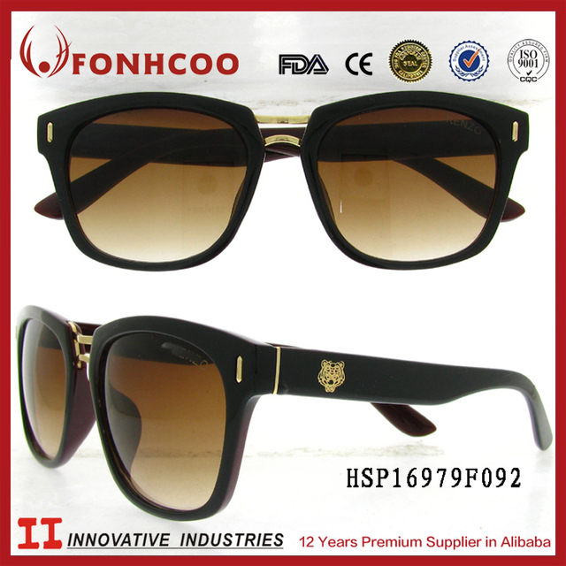 b58bbfae9447 FONHCOO Wholesale Cool Design Gradient Color Men Plastic Sunglasses With  Brown Lens