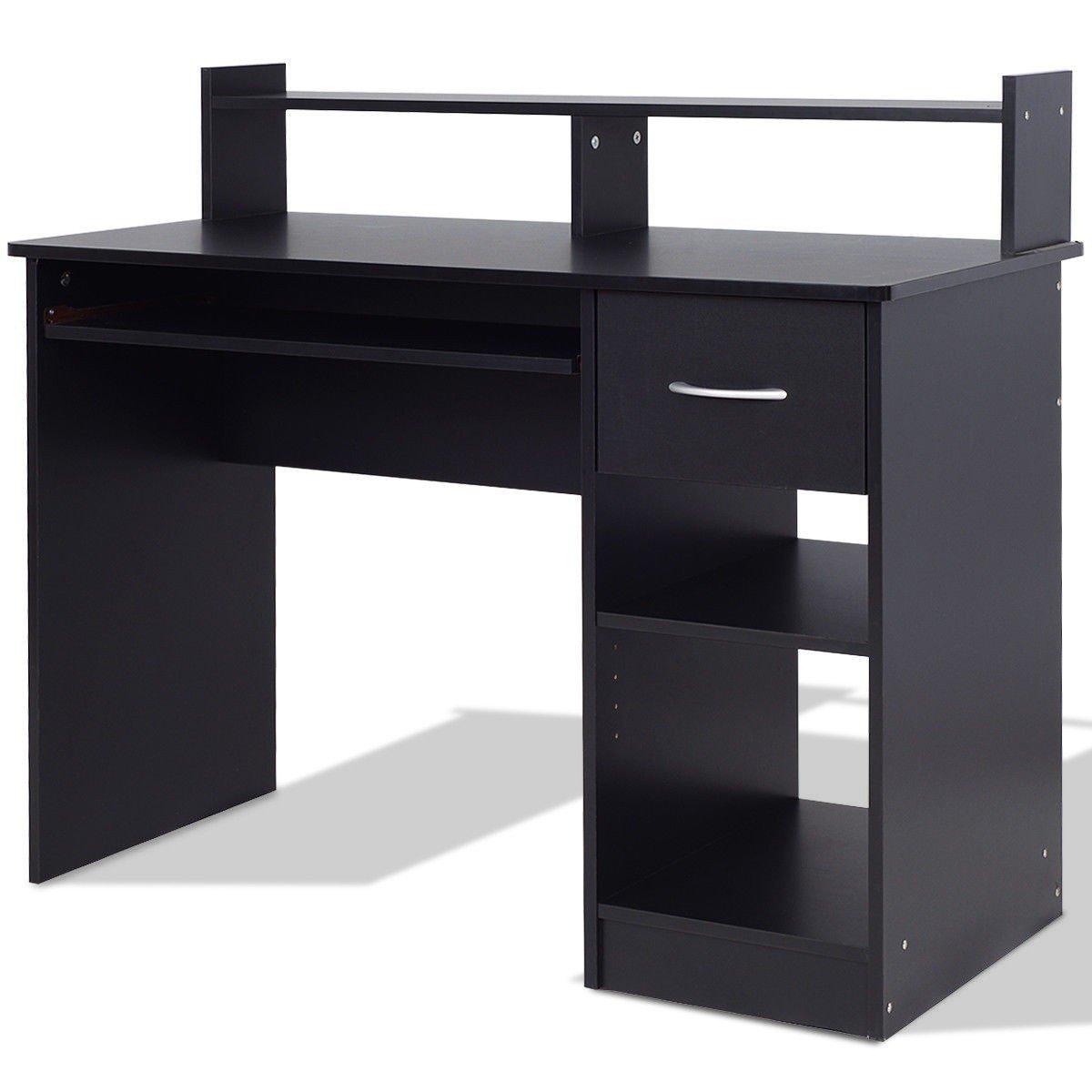 Svitlife Modern Computer Desk Workstation w/Storage Drawer & Shelf Desk Workstation Computer Table Office