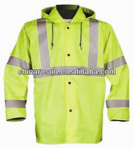 ANSI Class 3 High Visibility Jacket high visibility bomber reflective jacket hood