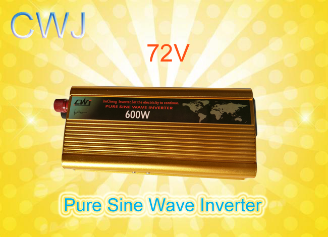 Best price homehold pure sine wave 600W DC 72V to AC Inverter