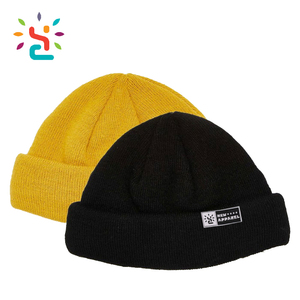40622765bba Colorful Hip Hop Beanies Knitted Fisherman Beanie Custom Beanie Hats winter  Knitted Hat