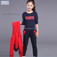 Online Wholesale Winter Child hoodies+shirt+pant three pieces cotton kids sports play set