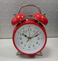 Two bell metal custom color table alarm clock for kid