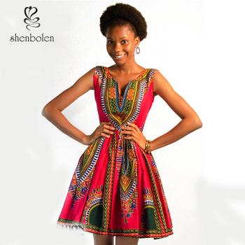 African Dress in African Print wax fabric 078c0e282c3d