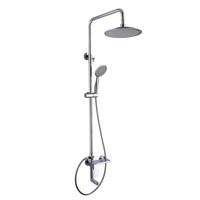 Modern wall mounted bathroom shower faucet