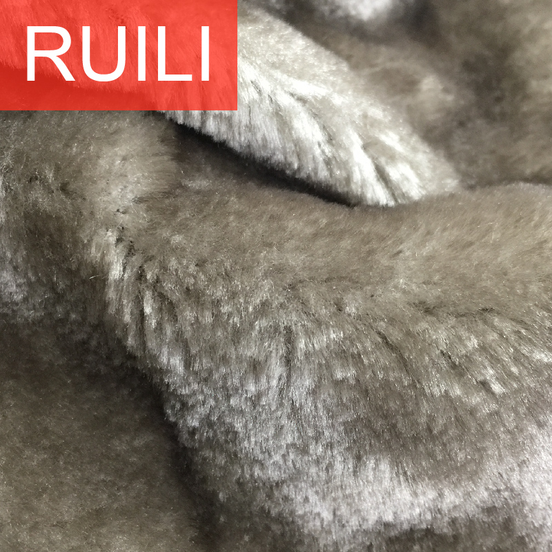 polyester toys clothing shoes fake plush fur fabric supplier