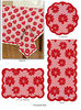 Christmas Decorations Tablecloth POINSETTIA RED Lace table runner Table Decorations