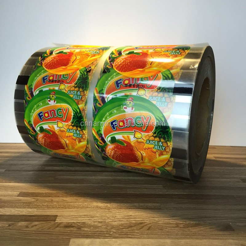 Jelly cup sealing film plastic cup sealing film