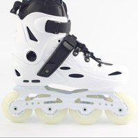 Customized Adjustable Stylish Freestyle Speed Flashing 4 Wheels PP Shell Roller Inline Skates For Adults