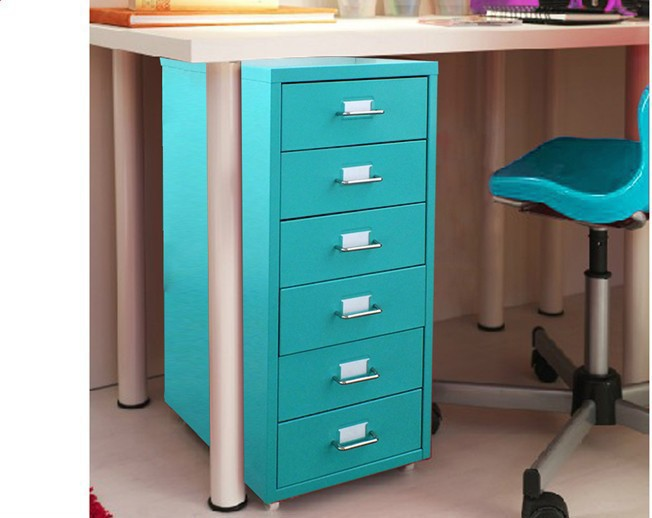 popular stylish small metal vertical 6 drawer cabinet / multi