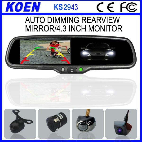 China Manufacturer 4.3 Inch Monitor Car Auto Dimming Rear View Mirror