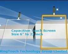 surface capacitive touch bezel screen