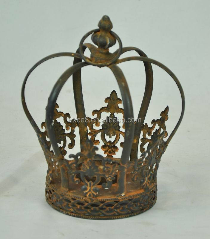 French style christmas gift decorative metal crown buy for Christmas crown decoration