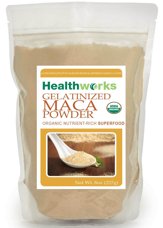 Healthworks Gelatinized Maca Powder Organic, 8oz