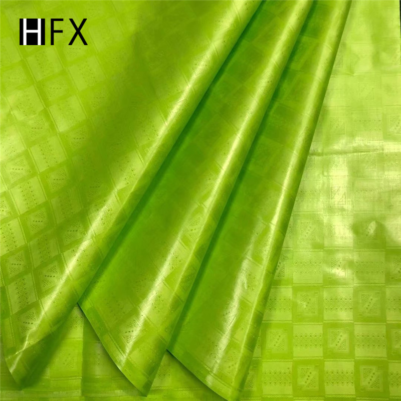 HFX bazin riche getzner latest african laces 2019 guinea brocade fabric bazin riche fabric bazin brode lace 5yard/set for women