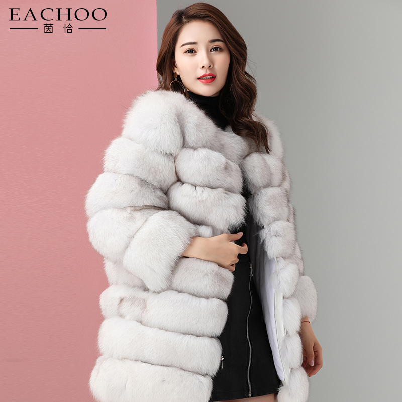 Chinese suppliers handmade ladies colourful real fox fur coat