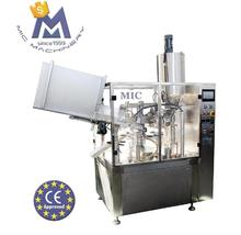 MIC R60 CE approved automatic plastic thick tooth paste tube filling and sealing machine with mixing hopper
