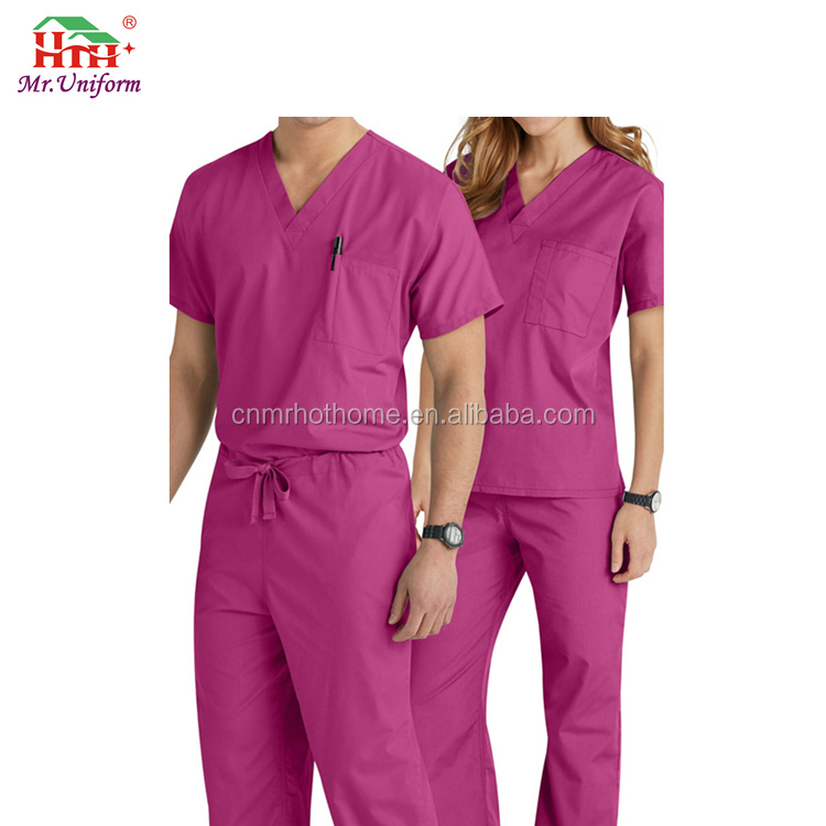 Cheap Hospital Staff Uniforms Medical Private Label Scrubs for Hospital
