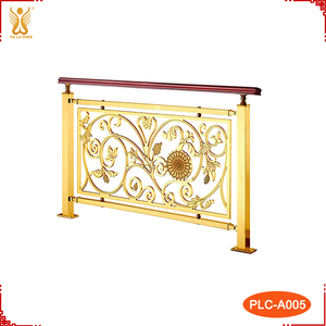 Aluminum Bronze Outdoor Hand Railings For Stairs.