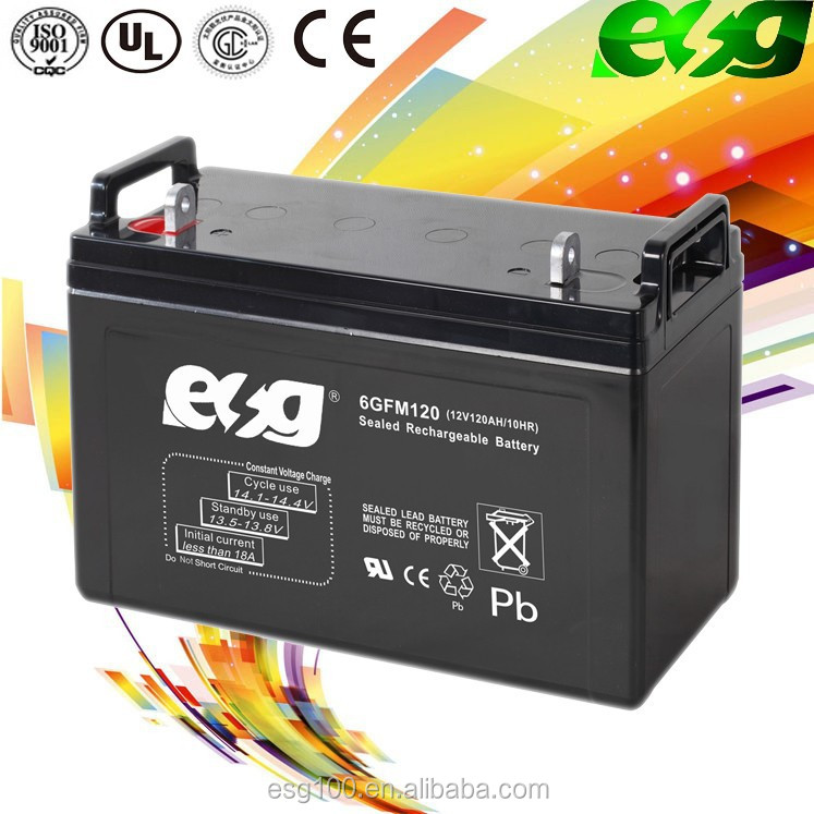 China Factory Price TOYO 12V 120Ah Deep Cycle Battery for Solar UPS