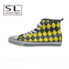 fashion trend yellow color stylish canvas shoes for boy