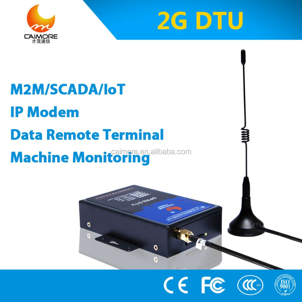 CM3160P metal housing gprs dtu with rs232 rs485 to connect plc for remote control and monitoring