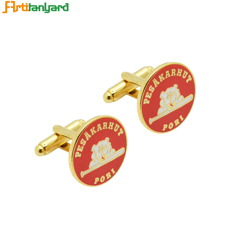 Design USA Elegant Luxury Red Gold Cufflink Parts Used On Married