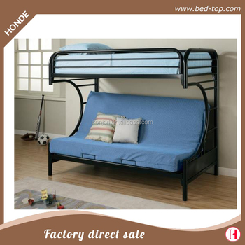 Foldable Three Persons Metal Sofa Bunk Bed For Bedroom Furniture