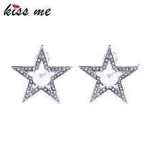 778f09a78928 Estrella imitación perlas cristal pentagrama pendientes de moda pendientes  grandes del perno prisionero