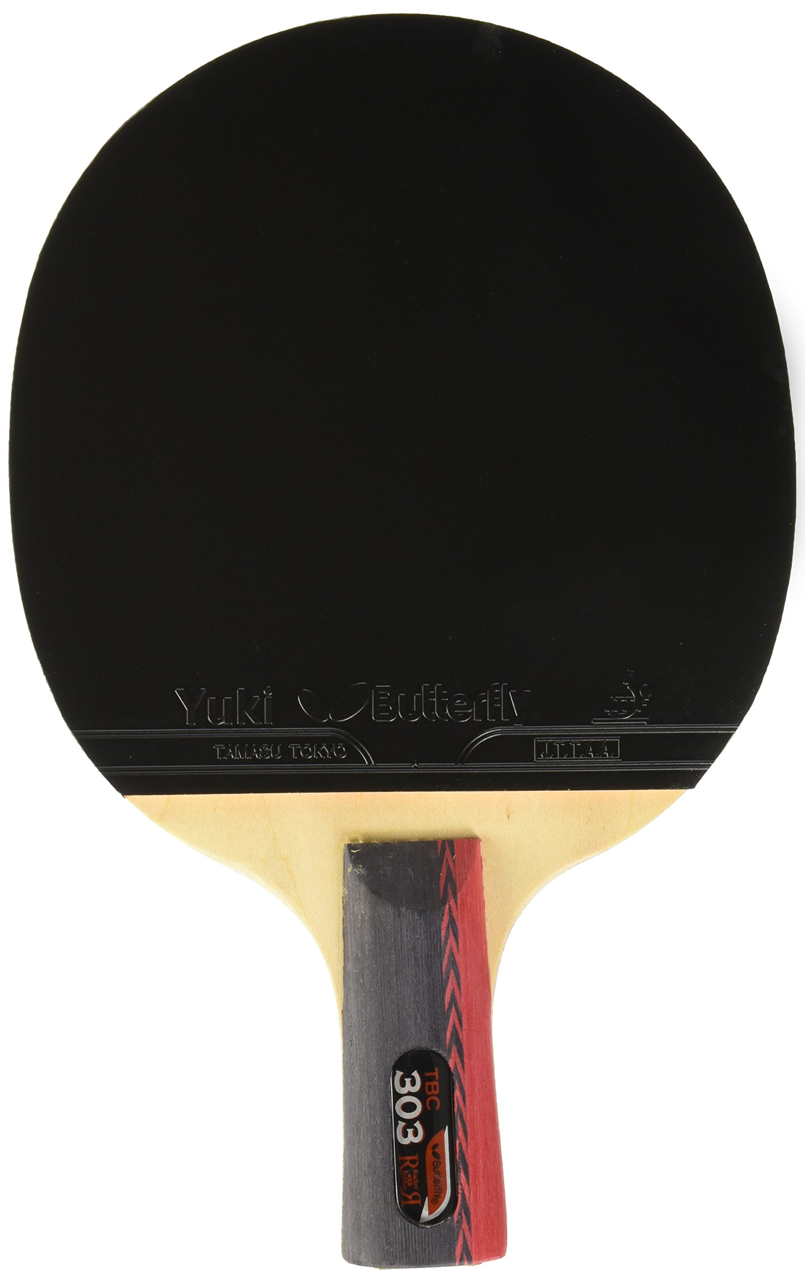 Butterfly 303 Chinese Penhold Table Tennis Racket Set - 1 Ping Pong Paddle – 1 Ping Pong Paddle Case - Pips Out and In Rubber - ITTF Approved