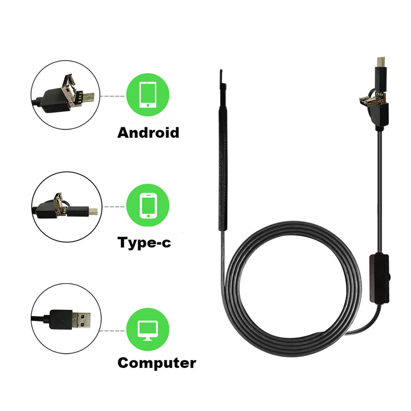 Factory Direct Supply OEM 3 in 1 Mini Digital Video Endoscope Otoscope With Dvr