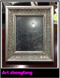 European country style antique carved wooden photo frames