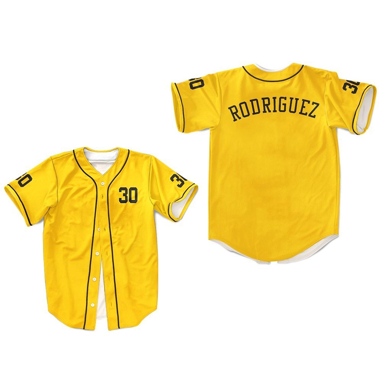 borizcustoms Mike Vitar Benny  The Jet  Rodriguez 30 Yellow Baseball Jersey  The Sandlot 2cbc7d7e8